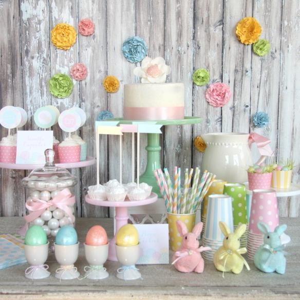 Flower Garden Easter By The Tomkat Studio